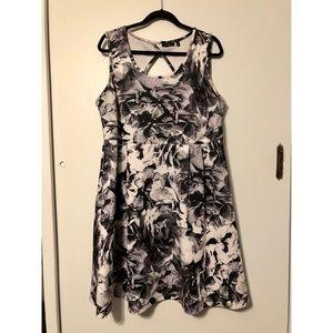 Apt. 9 Rose Print Scuba Dress